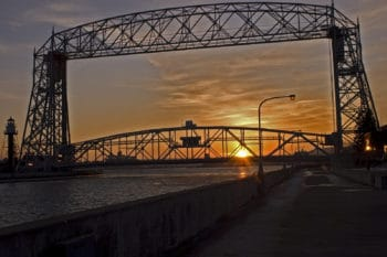 Aerial Lift Bridge on Park Point in Duluth