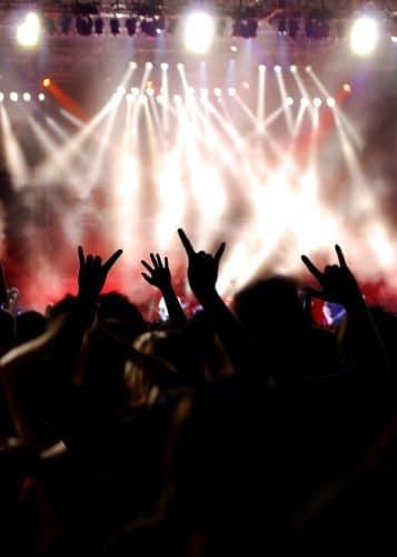 DECC crowd at the rock concert