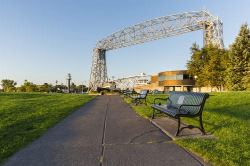Duluth Canal Park with Lakewalk and Aerial Lift Bridge