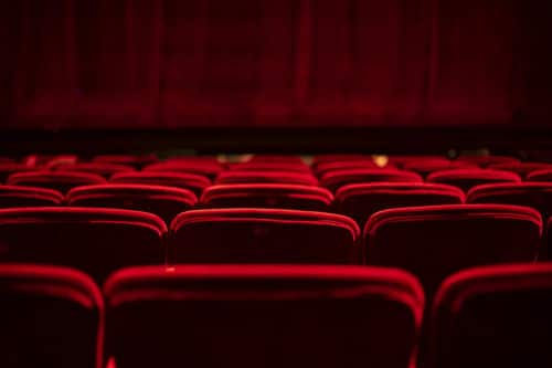 View of red velvet seats in Duluth Playhouse