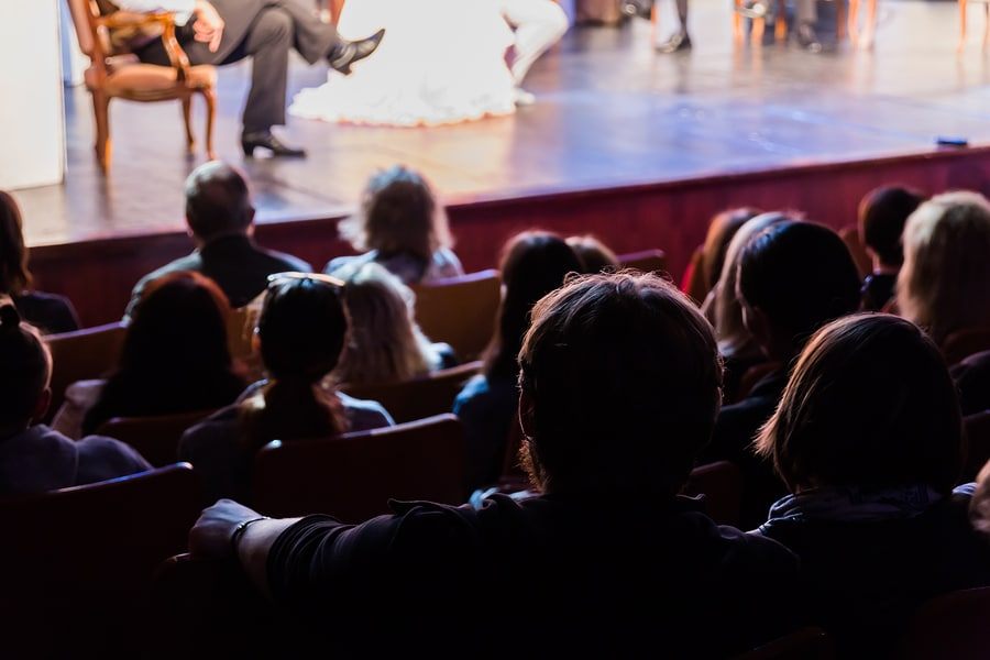 Audience watching show at Duluth Playhouse